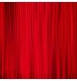 Red curtain on theater EPS 10 vector image