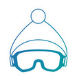 ski googles and hat vector image