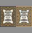 whiskey label design vector image