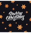 Merry Christmas hand written letterng 2017 vector image