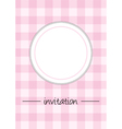 Pink vintage card menu or invitation vector image vector image