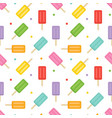 colorful ice cream and dots seamless pattern vector image
