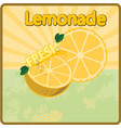 colorful vintage lemonade fresh label poster vector image