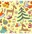 pattern with deers vector image vector image