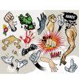 comic hands vector image