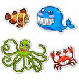 sea creatures vector image