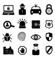 Computer and cyber security icons vector image