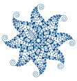 blue abstract ornament vector image