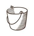 Bucket symbol vector image