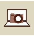 camera photo technology computer laptop vector image