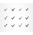 Check mark icons set vector image