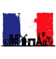 France flag and silhouettes vector image