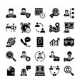 human resources glyphs icons 2 vector image