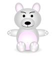 little white teddy bear vector image