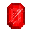 Ruby red isolated on white background vector image
