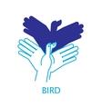 Shadow Hand Puppet Bird vector image