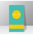 Trendy business card template vector image