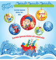 Winter Kid template with Balls vector image