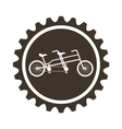 bicycle vehicle style with gear isolated icon vector image