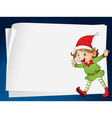 paper sheets and an elve vector image vector image