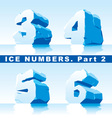 ice numbers Part 2 vector image vector image