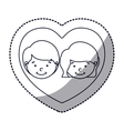 Isolated boy and girl cartoon design vector image