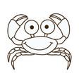 figure happy crab cartoon icon vector image
