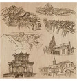 architecture - an hand drawn pack collection vector image
