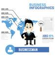 businessman info graphics vector image