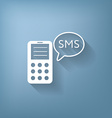 smartphone with cloud of sms dialogue vector image