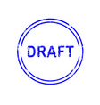 office stamp draft vector image vector image