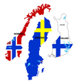 scandinavia countries vector image vector image