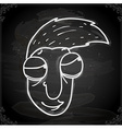 Cartoon Man Drawing on Chalk Board vector image