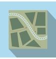 Stylized map flat vector image