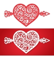 vintage heart with an arrow element vector image
