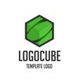 Template logo cube vector image