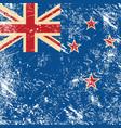 New Zealand retro flag vector image vector image