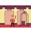 Bellboy flat graphic vector image