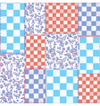 Dutch seamless plaid pattern patchwork vector image