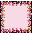 Floral frame with sakura blossom - japanese cherry vector image