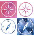 icon in crystal style compass vector image