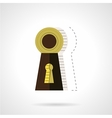 Keyhole flat color icon vector image