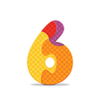 number 6 written with alphabet puzzle vector image