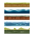Seamless landscape elements ground ice water vector image