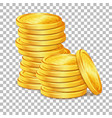 stack of gold coins on transparent background vector image