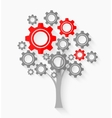 Tree with gears vector image