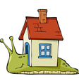 snail with a house vector image vector image