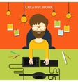 Creative work and designer tools concept vector image