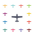 airplane flat icons set vector image
