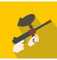 Paintball marker flat icon vector image vector image